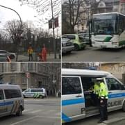 Autobus naboural policisty